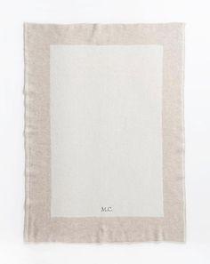 Personalisierte Babydecke aus reinem Cashmere