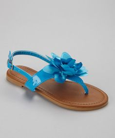 Take a look at the Light Blue Patent Paula Sandal on #zulily today!