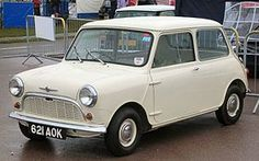 Classic Morris Mini - I'd drive this everyday if I owned it, it's so cute! #boden & #fromlondonwithlove