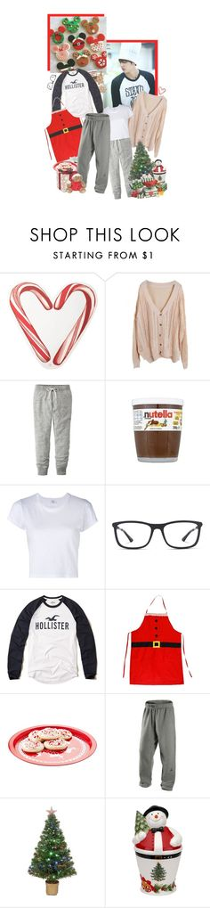 """""""christmas cookies 🎄🍪"""" by pecio ❤ liked on Polyvore featuring Draper James, Disney, Uniqlo, RE/DONE, Ray-Ban, Hollister Co., NIKE, Merske, Spode and Christmas"""