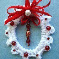 Crochet Christmas Wreath Ornament