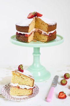 Recept Victoriaanse sponscake - Recipe Victorian sponge cake Kijk op www.101woonideeen.nl #tutorial #howto #diy #101woonideeen #recept #sponscake #recipe #spongecake