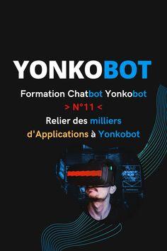 Connectez des milliers d'apps à Yonkobot avec le connecteur Json API 🤖..  C'est ce que nous voyons dans la vidéo n'11 de la Formation Chatbot Yonkobot...   👉 Reliez vos applications externes à Yonkobot..  👉 Collectez des données très précises et importez/exportez-les..  👉 Provoquer différentes actions et envoyez-les par appel Webhook..   🤖 Un module très spécial et unique pour la partie Growth Hacking de Yonkobot  Formulaires Web, Growth Hacking, Facebook, Conversation, Hacks, Engagement, Acquisition, Applications, Questionnaires
