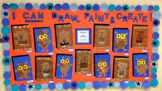 2nd Grade lions-tempera paint with oil pastels and K owls with ripped paper-Art with Mr. Giannetto-Blog