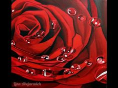 How to paint a rose using acrylic- step by step - YouTube