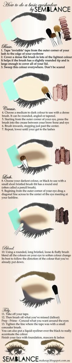 A little diagram I made last night, after Karina asked for a diagram of where to put what with which when doing eyeshadow! Posted from my little blog I decided to reinvigorate. Semblance Makeup