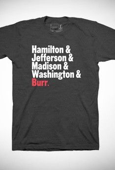 Hamilton Names T-Shirt - Apparel  - would i wear it/ how much of a nerd am i? (maybe/ a lot)