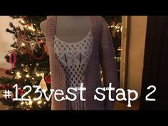 Iedereen kan haken© #123vest stap 2 how to crochet a singlet, Zeeman Luxury wol - YouTube