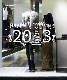 Happy New Year 2013 - χριστουγεννιατικα αυτοκολλητα τοιχου