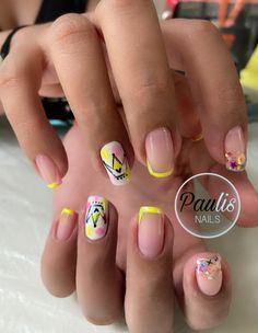 Beauty, Nail Decorations, Pedicures, Short Nails, Nail Designs, Nail Manicure, Hair Bows, Beauty Illustration