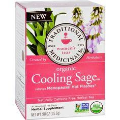 Traditional Medicinals Tea - Organic - Herbal - Cool Sage - 16 Ct - 1 Case