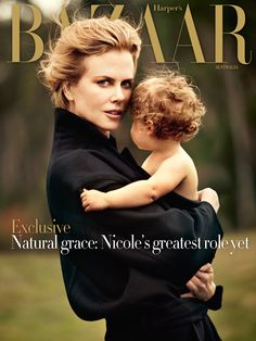 Nicole Kidman and daughter Faith Margaret for the June/July 2012 edition of Australian Harper's Bazaar, shot by Will Davidson. Sort of charming, yes?