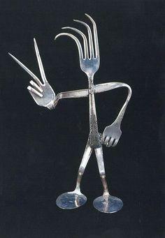 silverware art Jody Schaible's Repurposed Silverware will be part of the Art Walk.