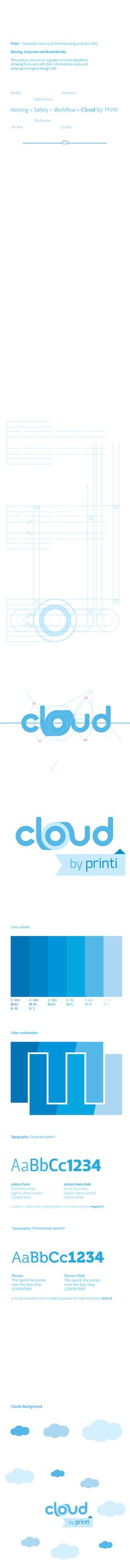Cloud by Printi- Corporate, Brand Identity and Naming by Allan Rodrigo, via Behance
