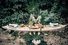 Inspiration for the surfers lovers || estilo boho novia boda surfera playa corona flores mejor blog perfecta original Más