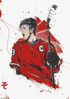 Hand-painted hockey player PNG and Clipart Illustration Sketches, Illustrations Posters, Hockey Drawing, Hockey Pictures, Sports Graphic Design, Watercolor Sketch, Sports Art, Hockey Players, Painting & Drawing