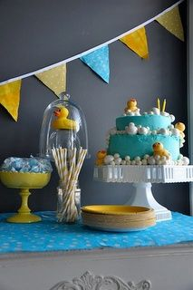 Rubber Ducky baby shower (The duckie punch inspired me...this is the theme for the one I'm hosting now!)