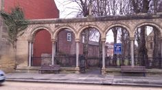 Arches to St James the Great church in Morpeth, Northumberland