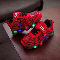 Children illuminate Shoes With Light Girl LED Spidermans Sneakers - 01-2 / 36