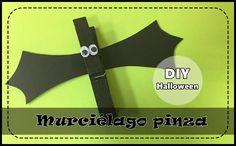 DIY murciélago Halloween # Ya se acerca la noche de Halloween, la noche de las brujas y los fantasmas y la de Todos los Santos.... Si queréis hacer una manualidad muy fácil y divertida con los niños, os voy ... »