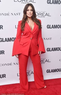 red hot: Ashley Graham, 30, dared to impress at the 2017 Glamour's Women Of The Year Awards on Monday