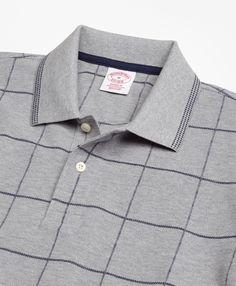 Original Fit Windowpane Polo Shirt - Brooks Brothers