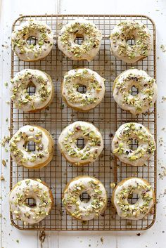 Baked Brown Butter and Pistachio Doughnuts - Joy the Baker
