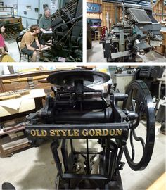 Harold Kyle and Tim Fay use a Linotype press and an Old Style Gordon press attacted many viewers at Type On The Cob.