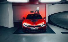 AC Schnitzer, tuning, ACS8, supercars BMW i8, german cars, red i8, BMW