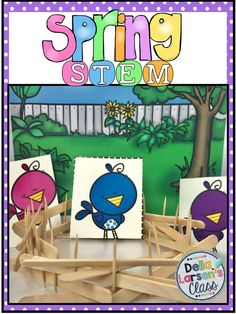 This Spring STEM challenge is perfect for kindergarten, first grade, and second grade engineers working together or alone in centers this April and May. This resource uses the engineering design process to solve problems all spring. Your kids will have fu Steam Activities, Hands On Activities, Activities For Kids, Stem Projects, Science Projects, Science Lessons, Science Experiments, Kindergarten Stem, Engineering Design Process