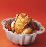 Bundt pan with chicken
