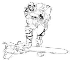 """Eric Desideriu  """"Blackbeard"""" - ink"""