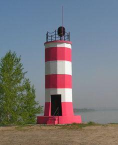 Lighthouses of Russia: Ob River, Novosibirsk Locks Entrance