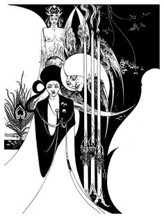 Aubrey Beardsley - Of A Neophyte And How The Black Art Was Revealed Unto Him By The Fiend Asamuel (1894)