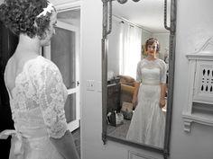A vintage wedding in Miami 1.26.13 -- the bride prepares for the wedding