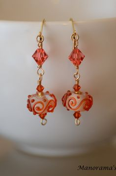 Spring Collection Series: Orange Swirl by ManoramasCreations