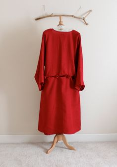 handmade to measure pleats roses folds  linen dress by annyschooecoclothing