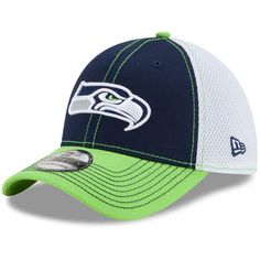 Men s Seattle Seahawks New Era College Navy Super Bowl XLVIII On The Fifty  Pop Logo 39THIRTY Flex Hat 3eb96dea08d9