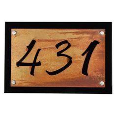 Black Rustic Metal Address Number Plaque, House Number Sign, Rustic Address Sign, Street Address, House Number Plaque, Address Plate