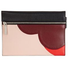 Victoria Beckham Abstract Heart Small Zip Pouch (49.465 RUB) ❤ liked on Polyvore featuring bags, handbags, clutches, victoria beckham, heart shaped purse, leather clutches, red purse and genuine leather purse