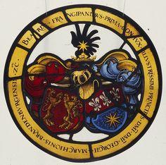 Rundwappen Beatrix von Frangipan, 1536, Ansbach, Stiftskirche, Bayern, Deutschland [CVMA Band X,1]