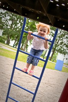 Photography:  Family photos:  Kenzie on the playground.
