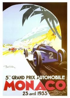 5ème Grand Prix Automobile, Monaco, 1933 Reproduction d'art