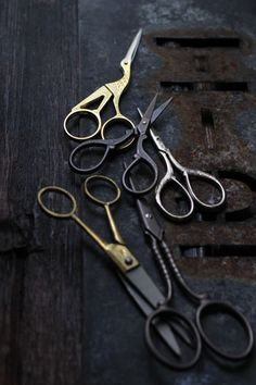 scissors, dark, shabby chic, junk style