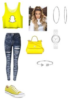 """""""Untitled #128"""" by haterz18 on Polyvore featuring Converse, Dolce&Gabbana, DKNY and Bling Jewelry"""