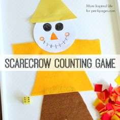 Roll a die and count patches in this fun game for preschool, pre-k, and kindergarten. A great way to practice counting with a fall or thanksgiving theme.