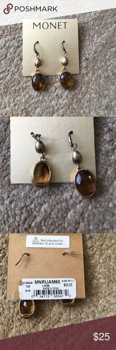 Monet earrings Brand new Monet earrings! Monet Jewelry Earrings