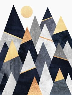 Fancy mountain prints