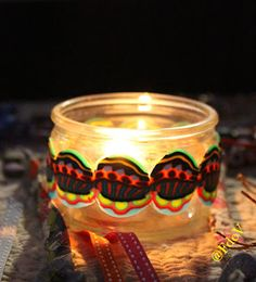 Veilleurs, veilleuses ... Candle Jars, Candle Holders, Candles, Polymer Clay Jewelry, Night Light, Candle Mason Jars, Porta Velas, Chandelier, Pillar Candles