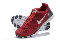 Nike Free TR Fit Mens Rio Red Metallic Silver Grey 429785 600